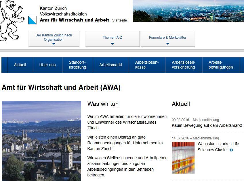www.awa.zh.ch-Amt für Wirtschaft und Arbeit (AWA)